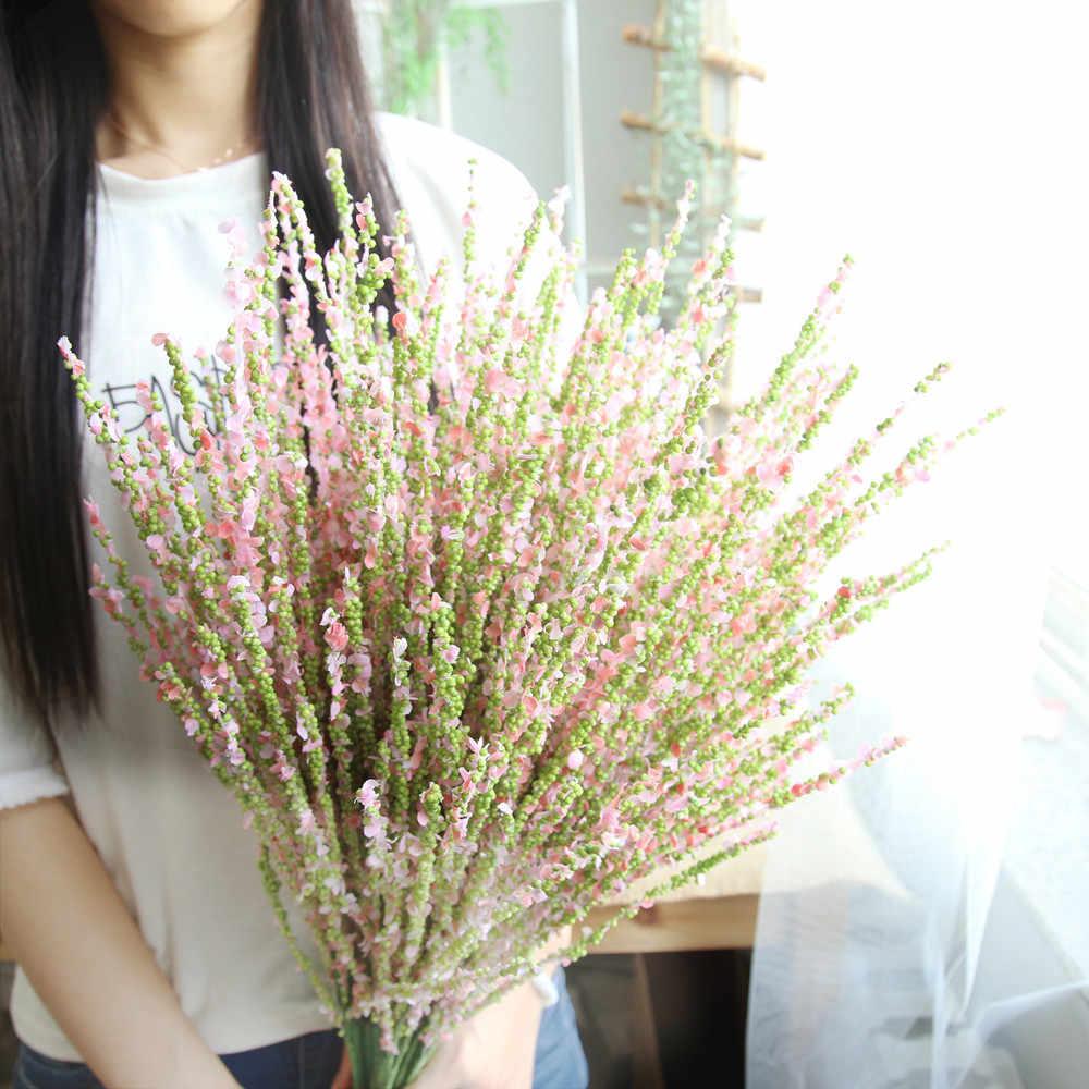 1 филиал Искусственные цветы зимний жасмин home decor цветок свадебные  букеты дорога цветок стены грабли цветы 4e6634fdc15