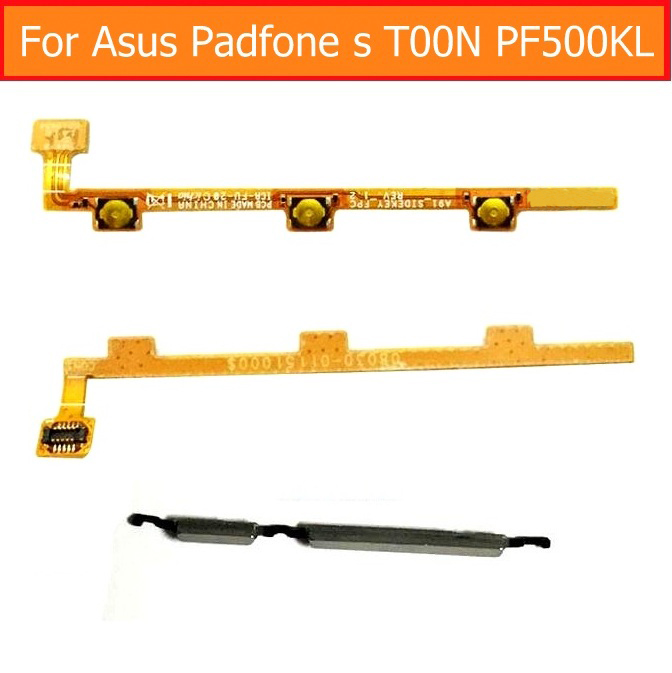 100% Genuine switch on/off power flex cable for Asus padfone s T00N PF500KL volume flex cable of up/down key control button part flex 100