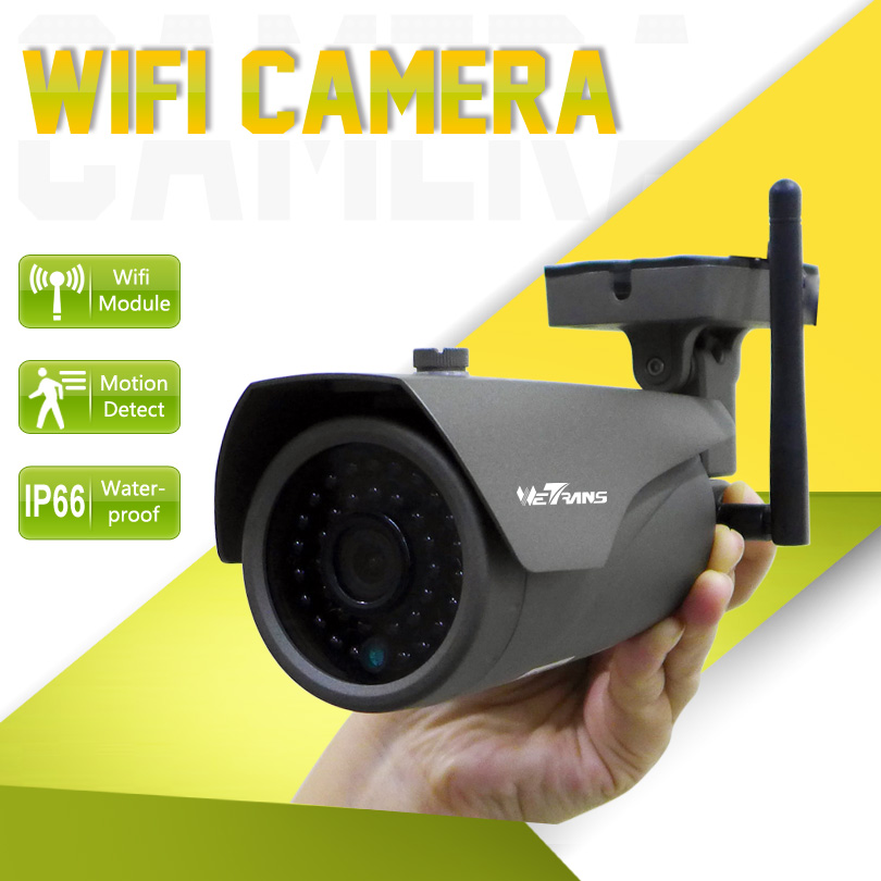 IP Camera Wifi Wireless 1280*720P P2P 1.0MP HD Outdoor 3.6mm Lens 25m Night Vision Alarm Wireless IP Cams IP Wifi Camera Onvif wifi ipc 720p 1280 720p household camera onvif with allbrand camera free shipping