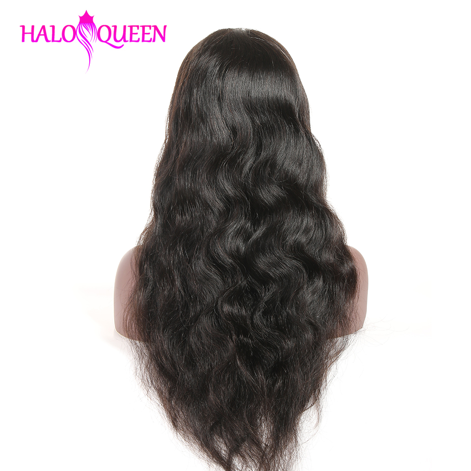 HTB1fQytXYj1gK0jSZFuq6ArHpXa5 HALOQUEEN Hair Human Wigs Raw Indian 13X4 Lace Closure Wig Body Wave Pre-Plucked Baby Hair 8-28 Inch Non Remy Human Hair