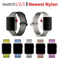 Newest Woven Nylon Strap Band For Apple Watch Series 3 2 1 38 Mm 42mm Sport
