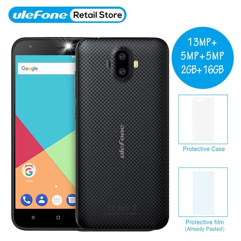 Ulefone S7 Pro смартфон 13MP двойной камеры заднего MTK6580 4 ядра 2 ГБ Оперативная память 16 ГБ Встроенная память 3g WCDMA 5,0 HD gps мобильного телефона