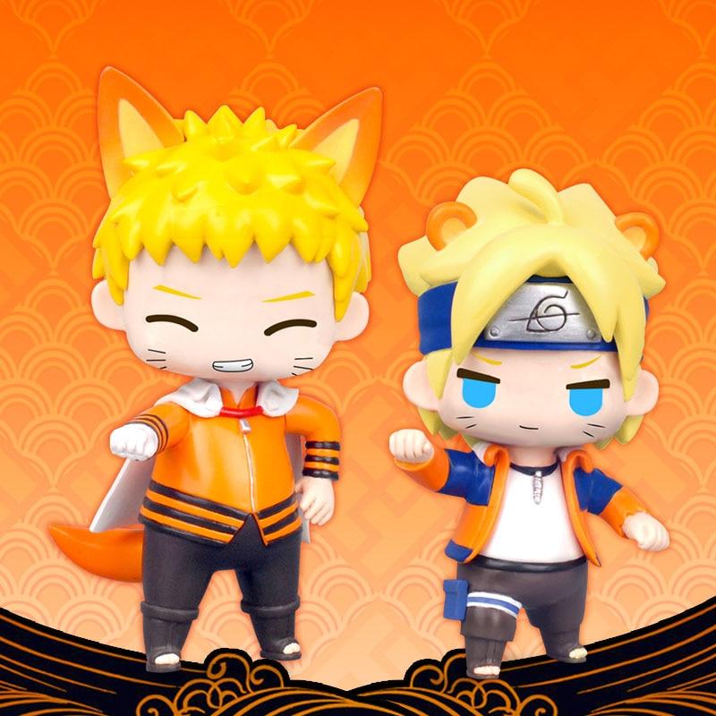 US $15 29 10% OFF|Boruto Naruto Next Generations Mini Action Figures Cute  Ver  Uzumaki Boruto Uzumaki Naruto PVC figure Toys Brinquedos Anime 7CM-in