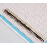 10PCS 2.54mm 2 X 40 Pin Male Double Row Right Angle Pin Header Strip Pin Header Double Row Angle