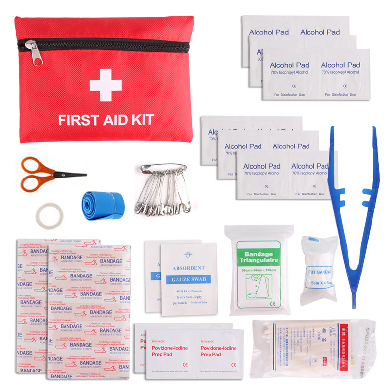 12 Kinds/Pack Emergency Kits First Aid Kit Pouch Bag Travel Sport Rescue Medical Treatment Hiking Camping First Aid Kit#265083