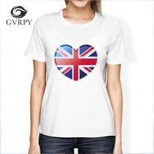 abcde684 Summer T Shirts UK Great Britain Retro Heart Flag Top Tee Soft Modal Humor  Women Crewneck Tee Shirts 2018 Female Fashion t shirt