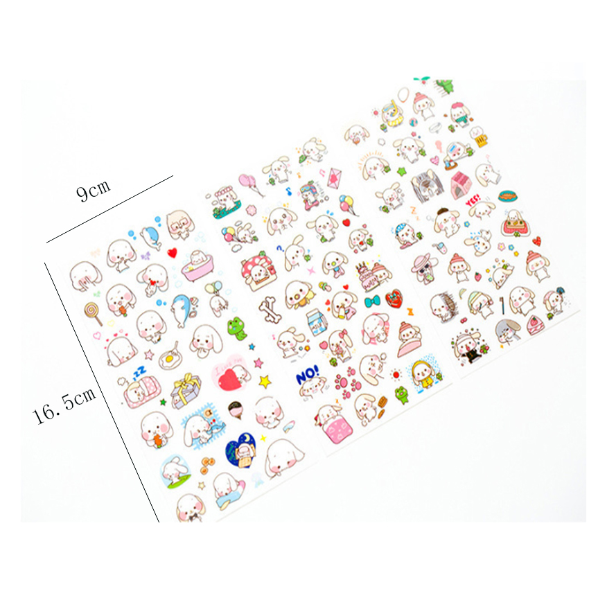 Купить с кэшбэком 6pcs/lot Lovely Big Ear Happy Dog  Label Stickers DIY Scrapbooking Pvc Stickers For Planner Diary Album Decoration Stationery