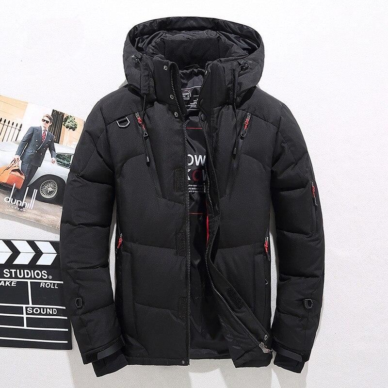 Hiver Veste Hommes 2018 Nouveau Mode De Collier de Stand Mâle Parka Veste Mens Solide Épais Vestes et Manteaux Homme D'hiver Parkas