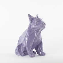 big resin abstract French Bulldog dog figurines home decor crafts room decoration objects vintage ornament animal figurine