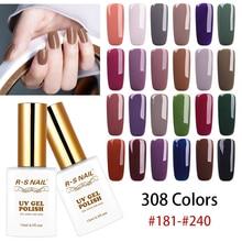цена на RS NAIL 15ml UV Color Nail Gel Polish 308 Colors Gel Varnish #181-240 UV LED Gel Lacquer Manicure a set of gel varnishes (4)