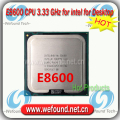 Оригинал для Intel Core2 DUO E8600 Процессор 3.33 ГГц/6 МБ Кэш/Dual Core/Socket LGA 755/Dual-Core/Desktop E8600 CPU