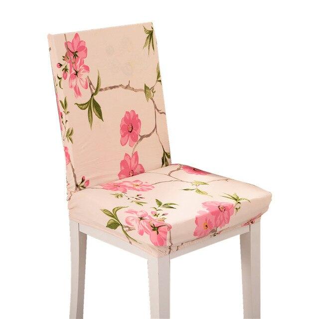 Roze Bloemen Pruim Covers Goedkope Jacquard Stretch Stoelhoezen ...