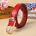 Ladies belt leather smooth pin buckle all-match Korean copper buckle belt layer of leather jeans young women