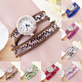 Fashion Stylish Snake Leopard Print PU Leather Strap Women Rhinestone Wrist Watch Women Dress Watches Relogio Feminino OP001