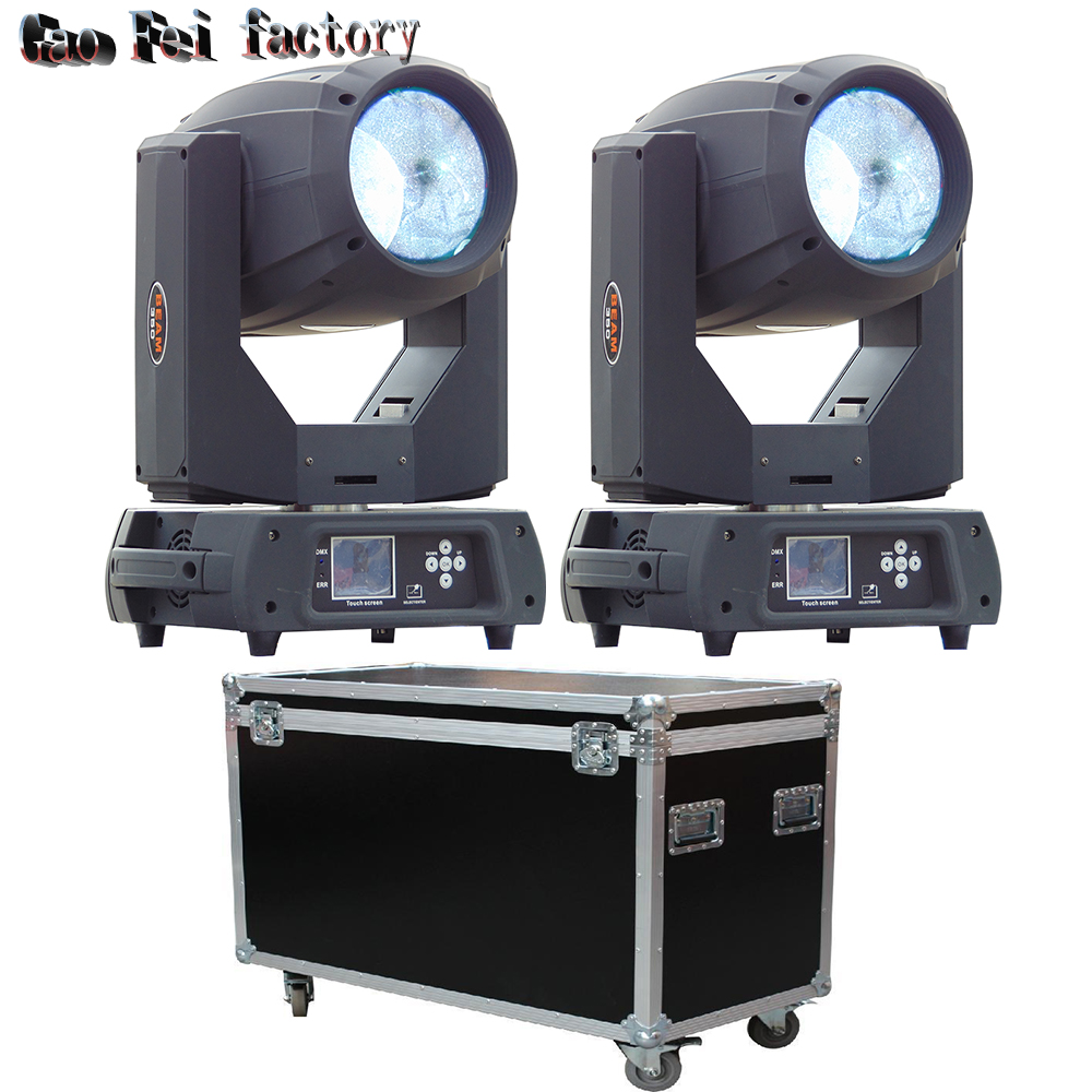 2pcs lot fly case 350w beam 17R double prism moving head beam lighting sharpy DMX stage