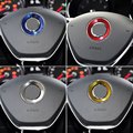 1Pc Car Styling Aluminum Alloy Steering Wheel Center Decoration Ring For Skoda Octavia A7 Superb A7 Fabia Rapid Car-Styling