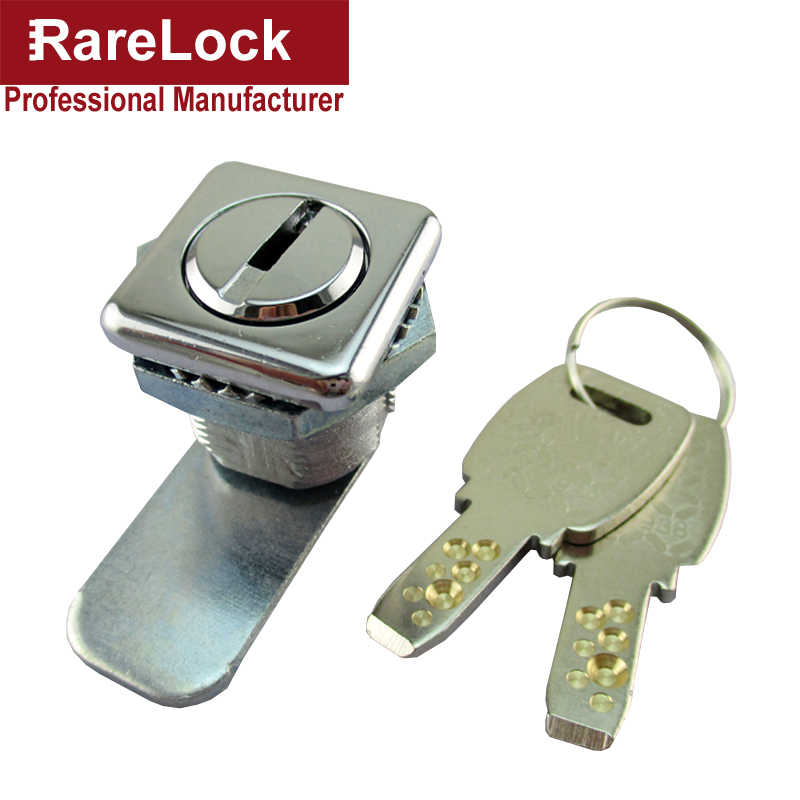 Rarelock MS549 Cabinet Cam Lock Square 2 Computer Keys for Electrical Cabinet Mail Box School Locker Office Drawer Hardware i