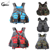 Gaining Strap Fishing Vest Adjustable Men and Women Multi-Pocket Swimming Life Jacket for Fly Fishing and Outdoor Activities(China)