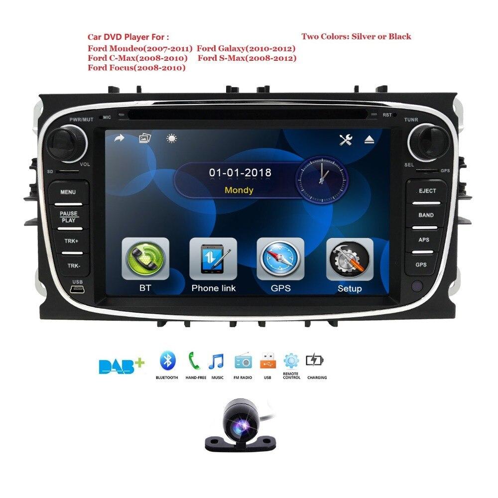 2 Din 7 дюймов Автомобильный dvd-плеер для FORD Mondeo S-MAX C max FOCUS 2 2008-2011 с радио GPS навигацией BT 1080P 8 ГБ карта задняя камера