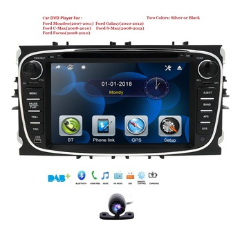 2 Din 7 Inch Car DVD Player For FORD Mondeo S-MAX C max FOCUS 2 2008-2011 With Radio GPS Navigation BT 1080P 8GB Map Rear Camera image