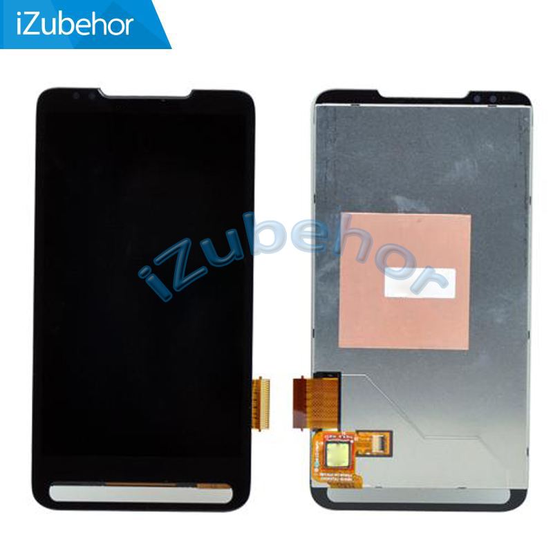 100% warranty black LCD Screen with touch digitizer assembly For <font><b>HTC</b></font> <font><b>HD2</b></font> <font><b>T8585</b></font> by free shipping image