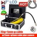 Горячая продажа 7 дюймов 23 мм CCD700TVL длинный кабель камера труба канализационная инспекция видео камера сливная труба канализационная Инспе...