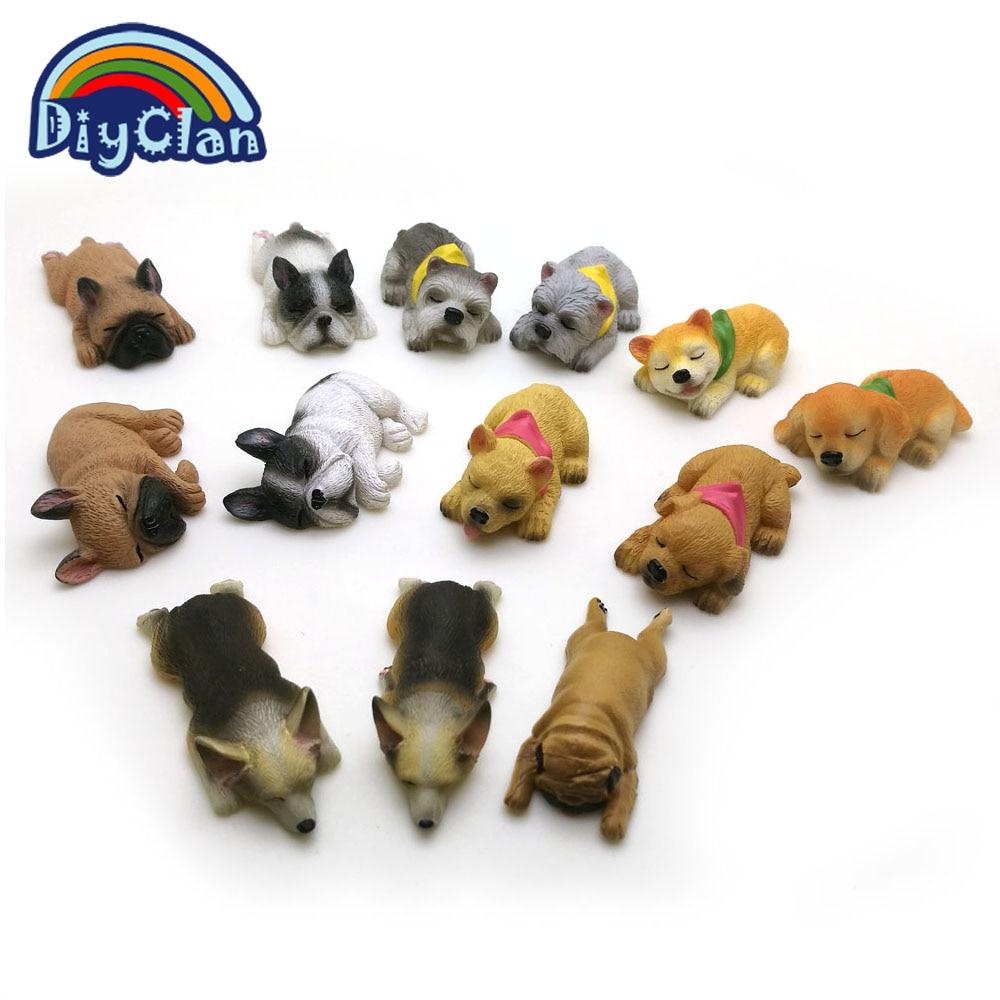 13 마리의 개는 실리콘 퐁당 케이크 장식 형을 형성한다 Corgi Bulldog 초콜릿 중합체 찰흙은 bakeware