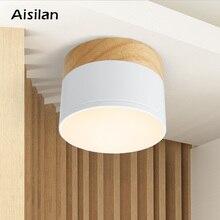 цена на Aisilan LED downlight Wood ceiling spot light for ceiling lamps Lighting Fixtures led 5W  spot light modern wood living light