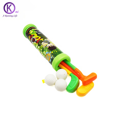 Golf training Toy for Kid plastic sport Toys Set of 3 Golf Clubs,3 balls Children game golf accessories