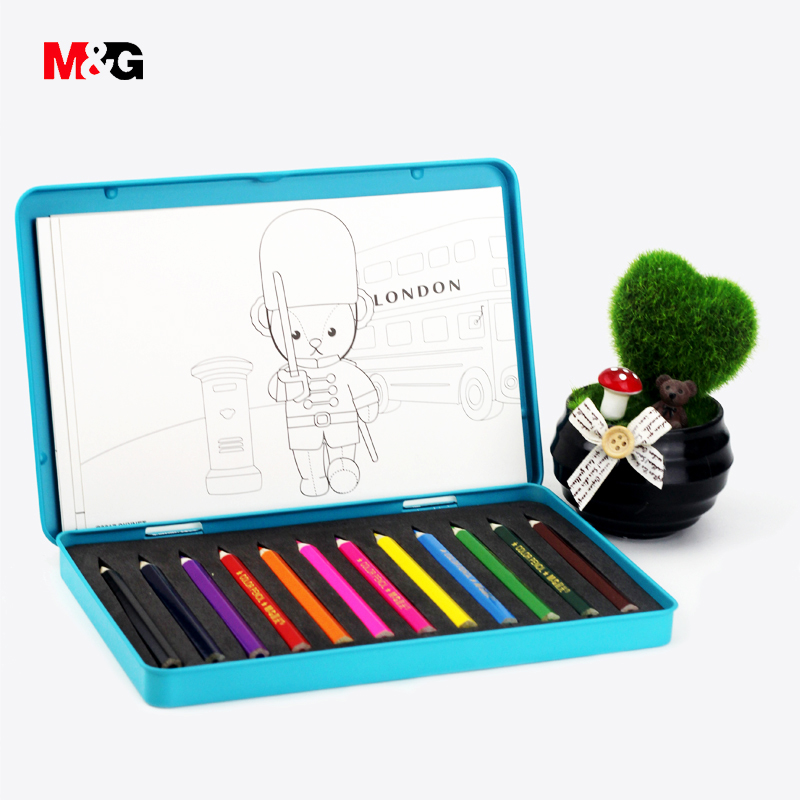 M&G kawaii world travel colored pencil set for drawing school supplies stationery cute cartoon kid gift Painting pencil with box