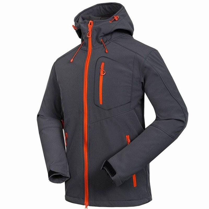 Homme Softshell veste Windstopper imperméable randonnée alpinisme vestes extérieur épais hiver manteaux Trekking Camping Ski 6014