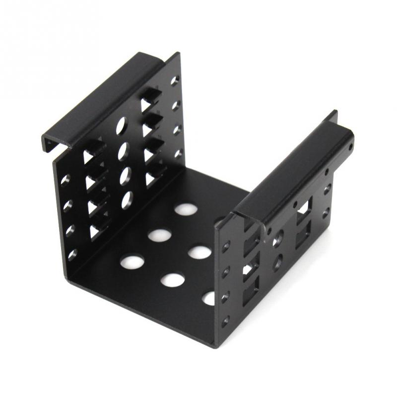 Aluminum 4 Bay 2.5 in SATA HDD SSD to 3.5 in Bracket Adapter, 2.5 in to Floppy Hard Drive Disk Mounting Converter Kit @