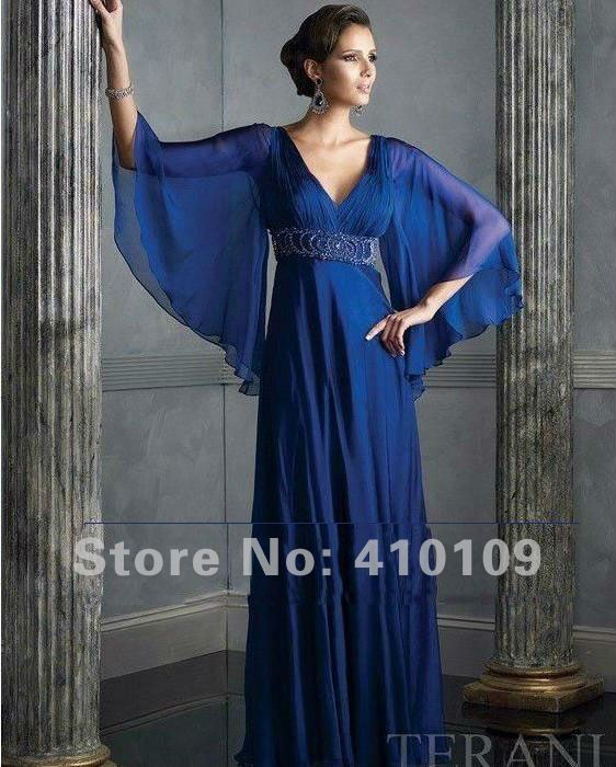 Full Length Prom Dresses with Sleeves