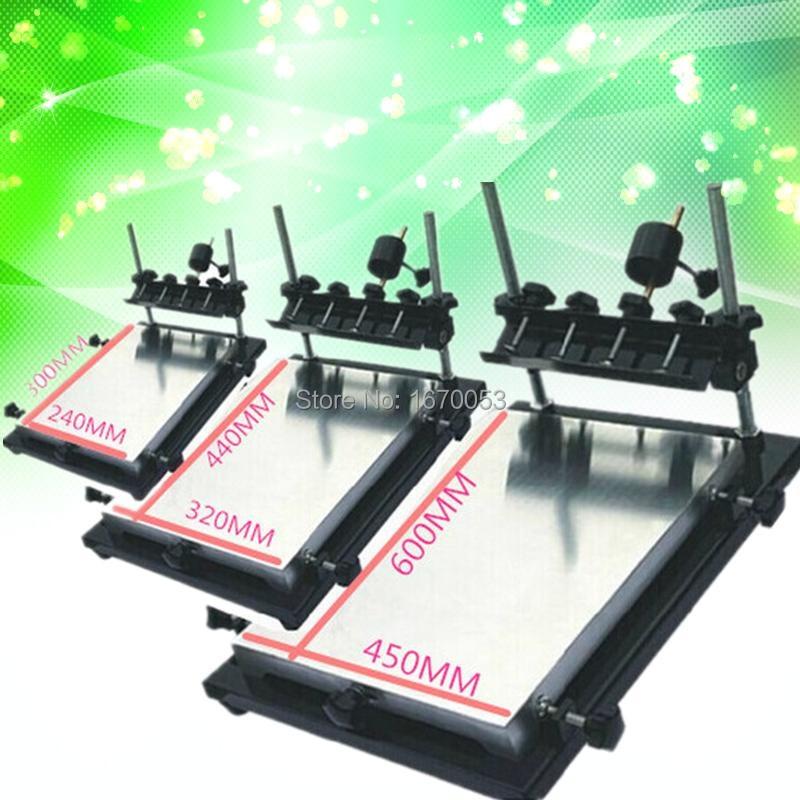 Single Medium Size Screen Printing Equipment Manual Screen Printing Machine Printing Board 320MMx440MM Total Three Size