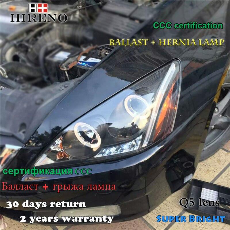 Hireno Headlamp For 2003 2007 Honda Accord Headlight Embly Led Drl Angel Lens Double Beam Hid Xenon 2pcs In Car Light From Automobiles