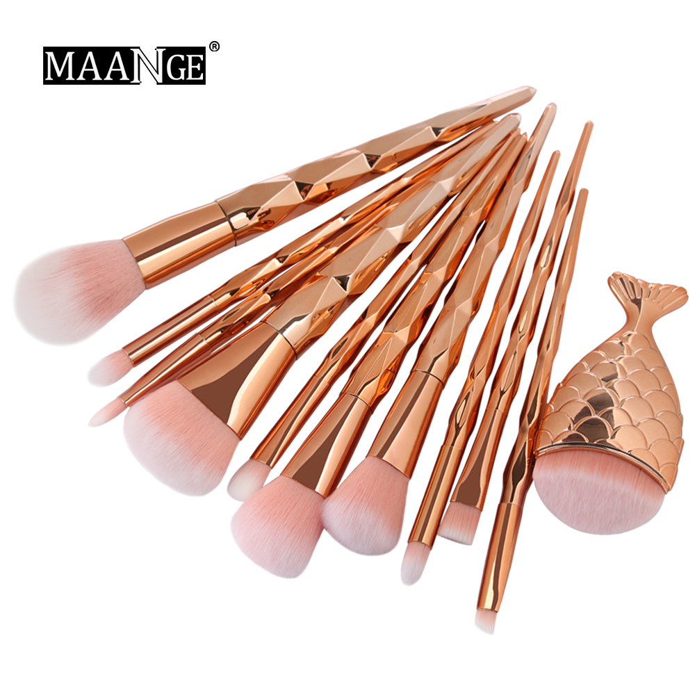 best 12pcs pro make up brush set cosmetic list and get free shipping