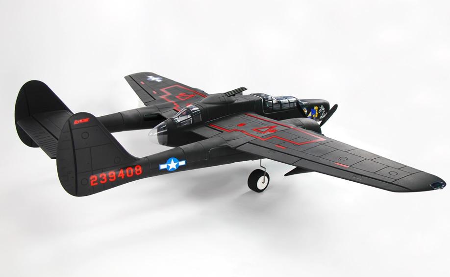 все цены на Dynam Jet 1500MM P-61 Black Widow RC Airplane PNP Propeller Model ESC Propeller Motor онлайн