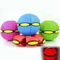 Mới UFO Bóng Bước Bóng Trút Bóng Led UFO Ma Thuật UFO Frisbee Bóng Biến Dạng Ngoài Trời Đồ Chơi Trẻ Em Gift