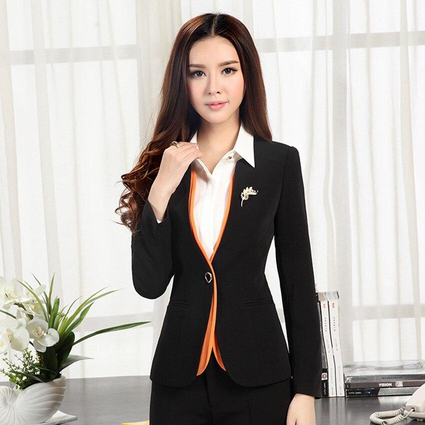 2017 autumn winter women's long sleeve blazer plus size OL ...