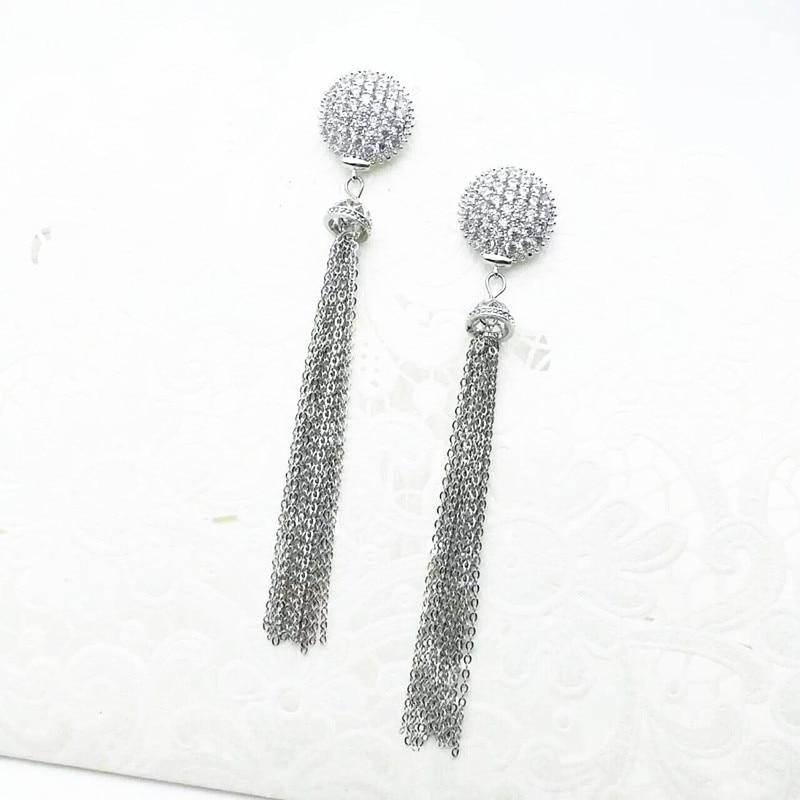Fashion ball long tassel drop Earrings female jewelery beautiful Personality gift