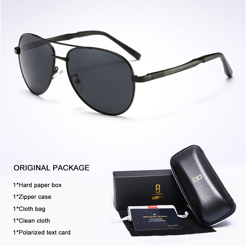 Bruno Dunn 2020 Aviation Men Sunglasses Polarized Sun Glases oculos de sol masculino aviador UV400 high quality  Sunglases 4