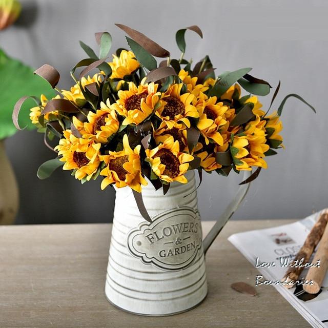 Simple Delicate Pe Sunflower Simulation Bouquet Flower Arrangement