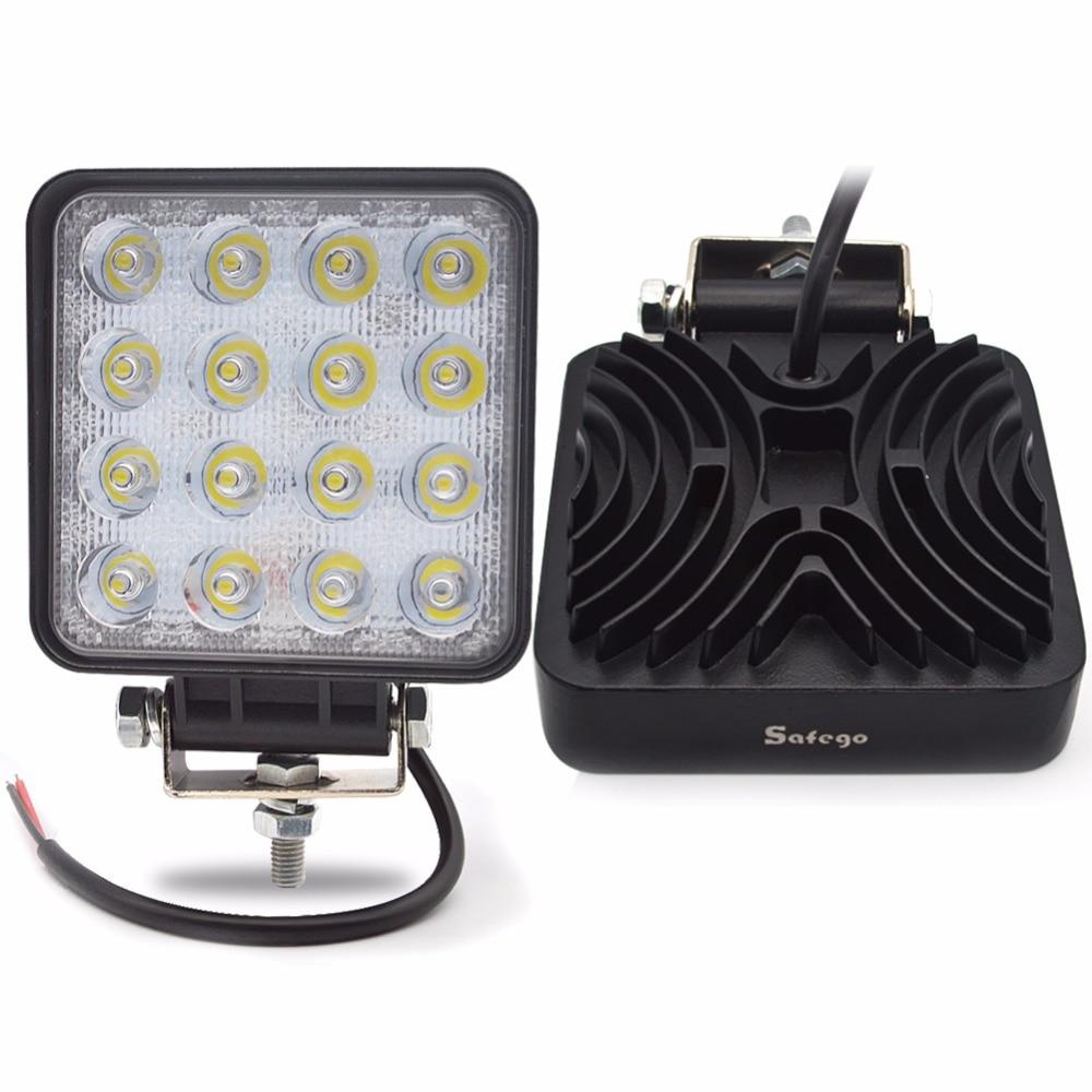 Safego 48 와트 LED 작업 빛 12 볼트 오프로드 4X4 트랙터 - 자동차 조명 - 사진 6