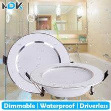 Spot lumineux pour le plafond, lumière dextérieur à intensité réglable à LED étanche, idéal pour une salle de bain, 5/7/9/12/15W, 4 unités