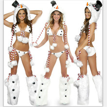high quality women White ladies girls christmas clothes sexy bikini santa ds party sexy lingeries top t short costume halloween