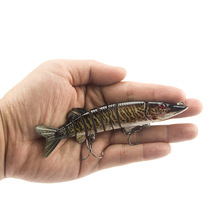 SEALURER Hard Lure 9-Segment Lifelike Fishing Crankbait 12.5cm/20g 3D Eyes Two Hook Baits Pesca