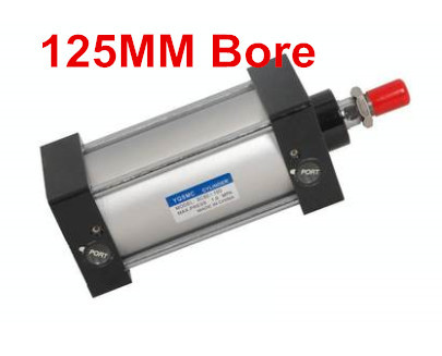 Bore 125mm Stroke 200mm G1/2 Air Cylinder Pull Rod Double Action Pneumatic Cylinder Standard CylinderBore 125mm Stroke 200mm G1/2 Air Cylinder Pull Rod Double Action Pneumatic Cylinder Standard Cylinder