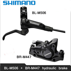 SHIMANO M506+M447 MTB Bike Hydraulic Disc Brake Set Clamp Mountain for Brake Bicycle Disc Brake & Brake Sheet Screws