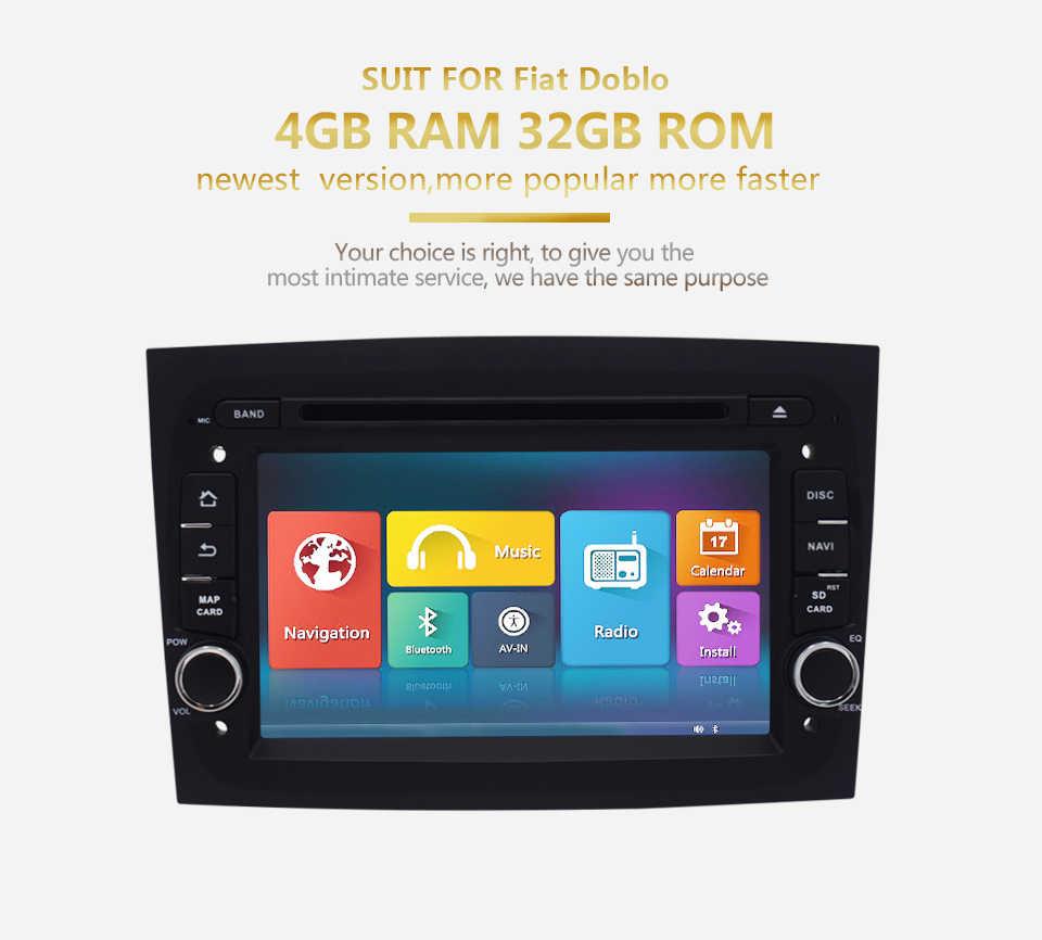 """Автомобильный радиоприемник для FIAT Doblo 2016 7 """"HD сенсорный дисплей Android 6,0 Авто аудио gps навигация по Bluetooth мультимедийные плееры"""