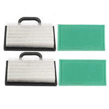 2pcs/set Air Filter  Prefilter Fit For Briggs & Stratton 499486 499486S 69100 273638 Air Filter Accessories